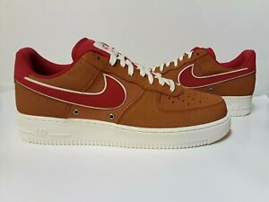 newest 02509 ac296 Image is loading Nike-Air-Force-1-Tawny-Brown-Basketball-718152-