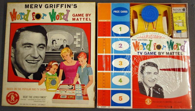 Sellado de fábrica 1963 Merv Griffin's palabra por palabra juego por Mattel en función de mostrar