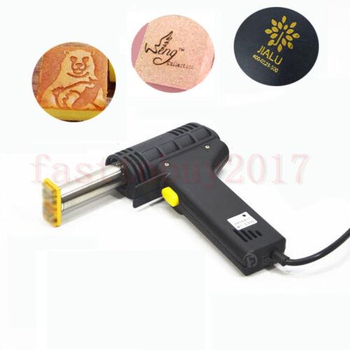 220V Handheld Leather Embossing Machine Hot Foil Stamping For LOGO Branding 300W