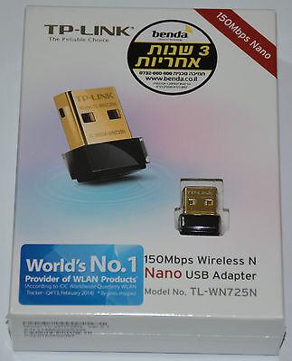 NEW Ver 2.1 TP-Link TL-WN725N 150Mbps WiFi N Nano USB 2.0 Supports WMM/WEP *BOX*