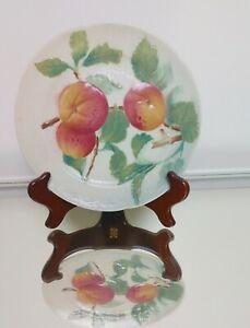 NEAR-MINT-Antique-Majolica-K-C-St-Clement-Peach-8-25-034-Lunch-Salad-Plate-Peach