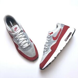 Details about Nike Air Max 1 Ultra Flyknit OG University Red White Gray (843384 101) Size 11.5