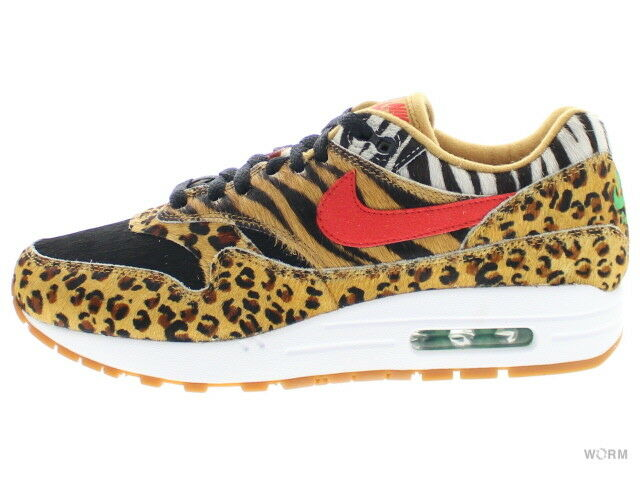 NIKE AIR MAX 1 DLX  ANIMAL 2018  aq0928-700 wheat sport red-bison Size 8
