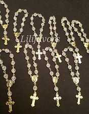 24 Mini Rosary Gold  Primera Comunion Baptism Recuerdos Bautizo