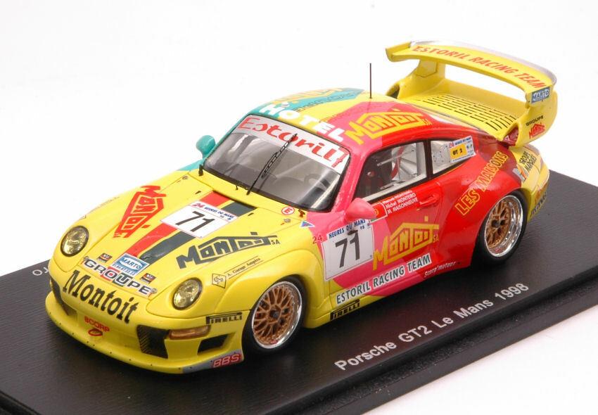 Porsche 911 Gt2 Lm 1998 M. Maisonneuve   M. Monteiro 1 43 Model S4758