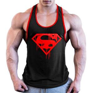 Men-Bloody-TankTop-Bodybuilding-Vintage-Style-Gym-Tanktop-Stringer-Vest