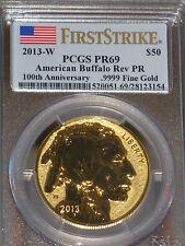 2013 W $50 Reverse Proof Gold Buffalo 1Oz .9999 Fine PCGS PF69 1st Strike Coin!!