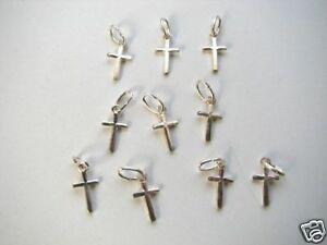 Small Cross Charm Silver Cross Charm Cross Charm Jewelry Supplies Small Cross Silver Charm 10 pcs Cross Pendant