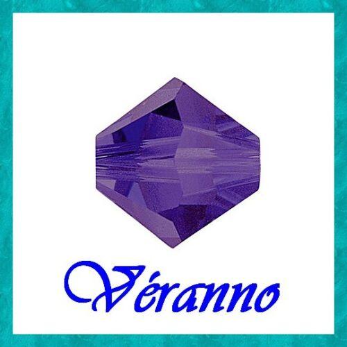 20 toupies 6mm purple velvet cristal de swarovski.