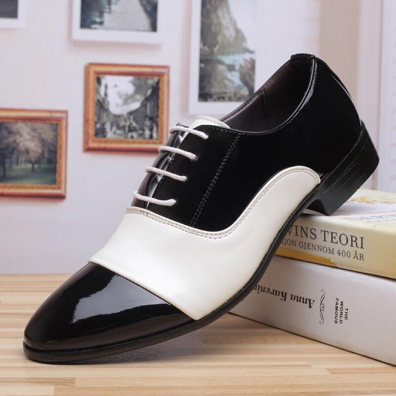 Mens Brogue Business Patent  Leather Lace Up Shoes Dress Formal Wedding Shoes sz