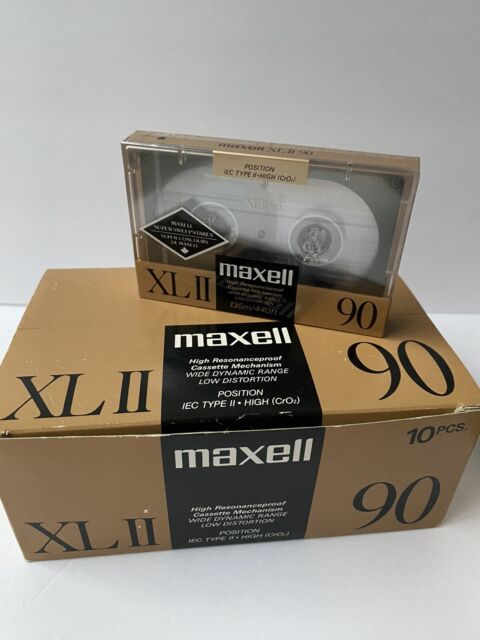 Box Of 10 New Sealed Maxell XLII 90 Blank Audio Cassette Tapes NOS
