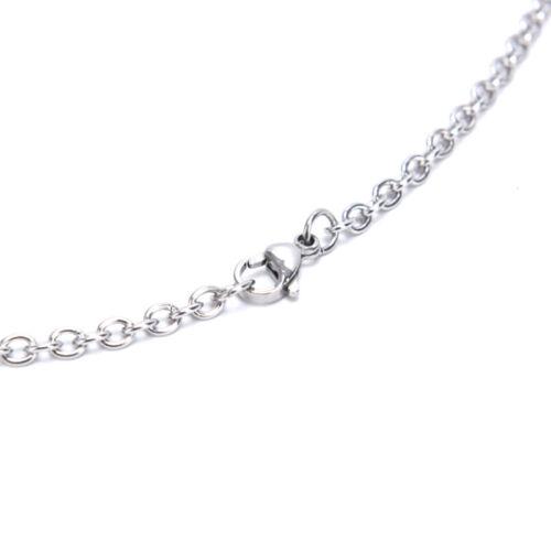 Titanium steel Chain Necklace Women Punk Heart Lock Key Choker Jewelry Gi w TDss