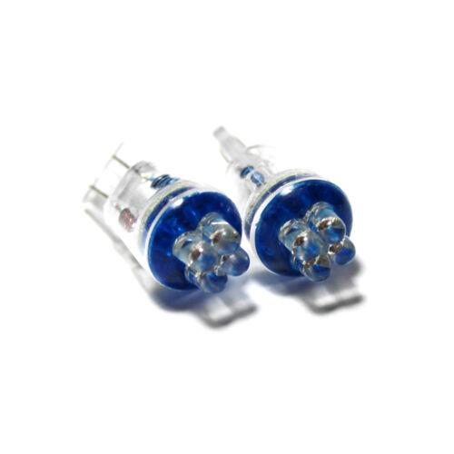 Peugeot 206 Blue 4-LED Xenon Bright Side Light Beam Bulbs Pair Upgrade