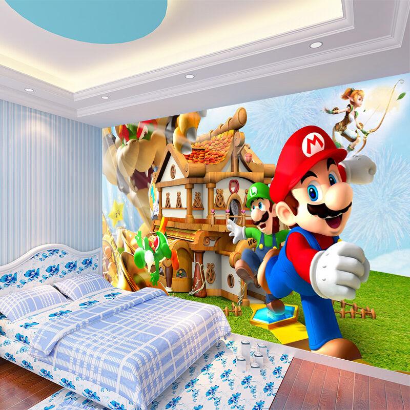 3D Cartoon Boy Bredhers 3367 Wallpaper Decal Dercor Home Kids Nursery Mural Home