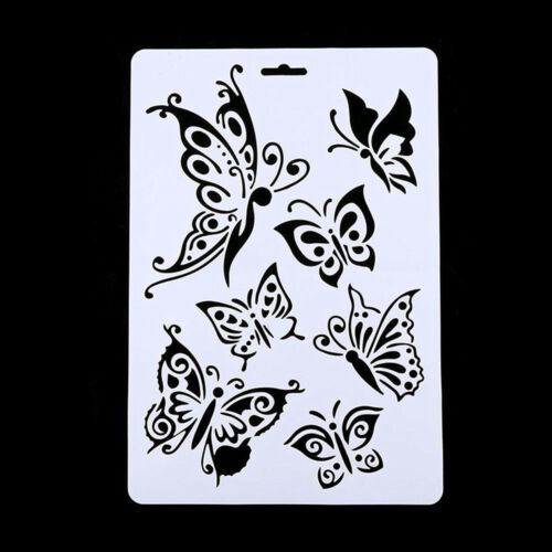 New DIY Craft Butterfly Stencils Template Painting Scrapbooking Stamps Album