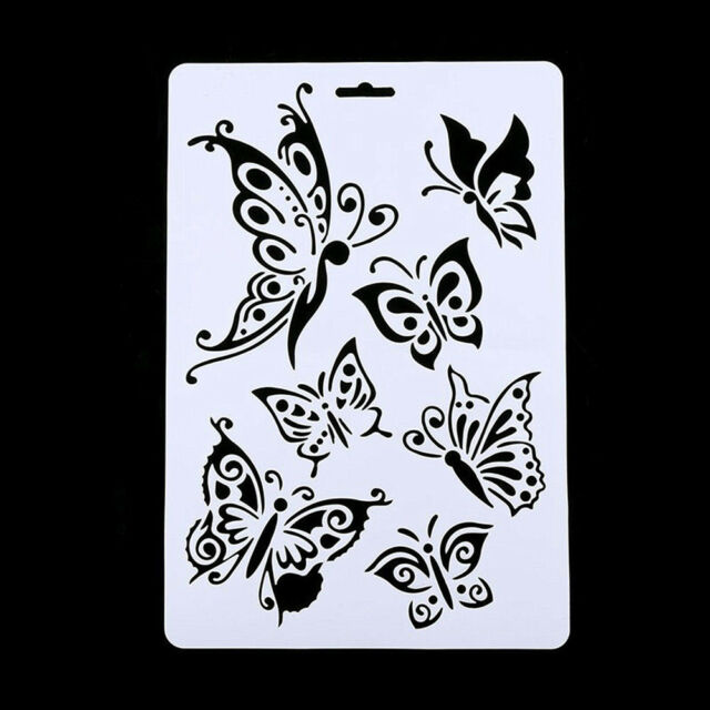 Butterfly Stencils Template Painting Scrapbooking Stamps Album Diy