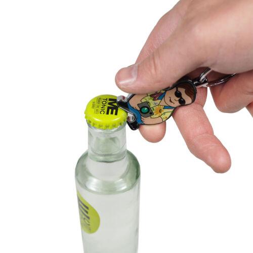 Flaschenöffner Schlüsselanhänger Kapselheber Motiv Tourist verchromt 1a Qualität