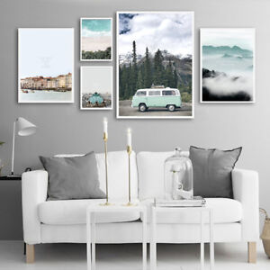 Details About Nordic Style Travel Landscape Wall Art Canvas Poster Prints Scandinavian Decor