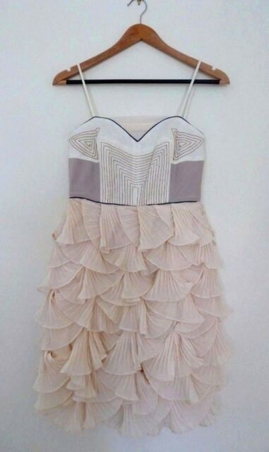 BNWT $209 COOPER ST DRESS Petunia Frock Layered Cream Size 6
