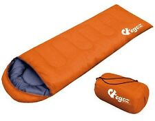 EGOZ Peanut Sleeping Bag Easy to cary Orange Warm Adult Outdoor 3 Season Camping