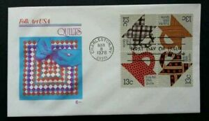 [SJ] USA Folk Art - Toleware 1979 Traditional Tools Culture (stamp FDC)