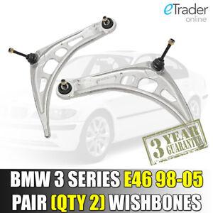BMW-3-serie-E46-espoletas-1998-2005-frontal-inferior-brazos-de-suspension-Brazo-Par-Nuevo