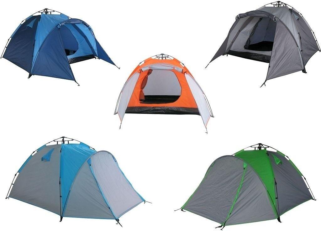 Camping Zelt Outdoor Zelt Schirmsystem Polyester Kuppelzelt bis zu 3 Personen