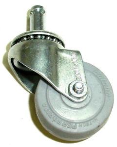 """Floor Safe 7//16/"""" Grip Ring Swivel Stem Caster 5/"""" Soft Rubber Wheel"""