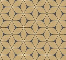 Coloroll - Black & Gold - Vibration - Geometric Glitter - Luxury Wallpaper M1024