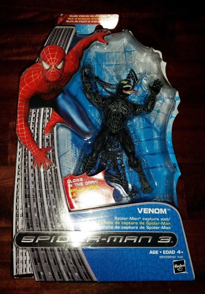 Hasbro Marvel Spider-man 3 Venom Glow in the Dark Capture Web Figure New