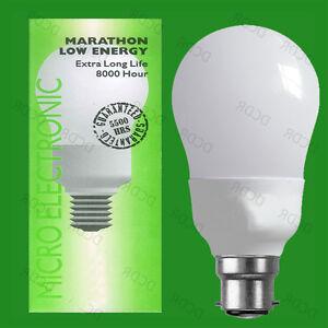 2x 11W Daylight White 6400K Low Energy CFL Stick Light Bulb Lamp Bayonet BC B22