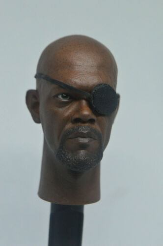 1//6 Scale Nick Fury Male Head Sculpt  Fit 12/'/' Phicen Body Figure