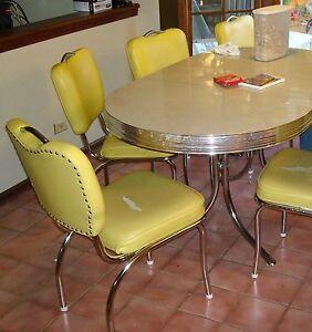 Retro 50 039 S Style Chrome Dinette Table