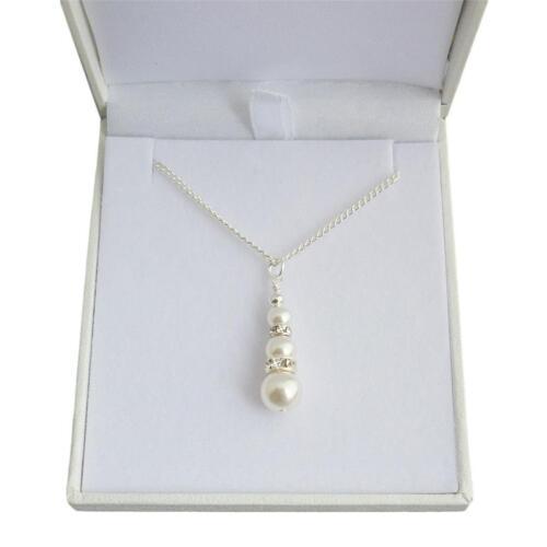 Brautjungfer Viele Farben Weiße Perle Hochzeit Schmuck Halskette für Braut