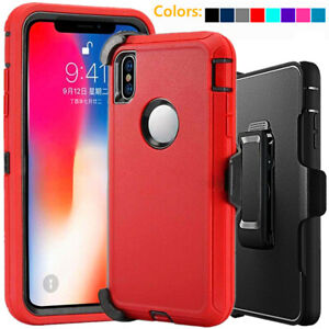 For Apple iPhone XS XR Max Shockproof Defender Case w/Belt Clip fits Otterbox