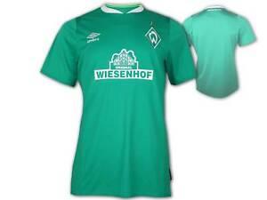 Umbro-Werder-Bremen-Heim-Trikot-Kinder-gruen-SVW-Home-Jersey-Fan-Shirt-Gr-134-158