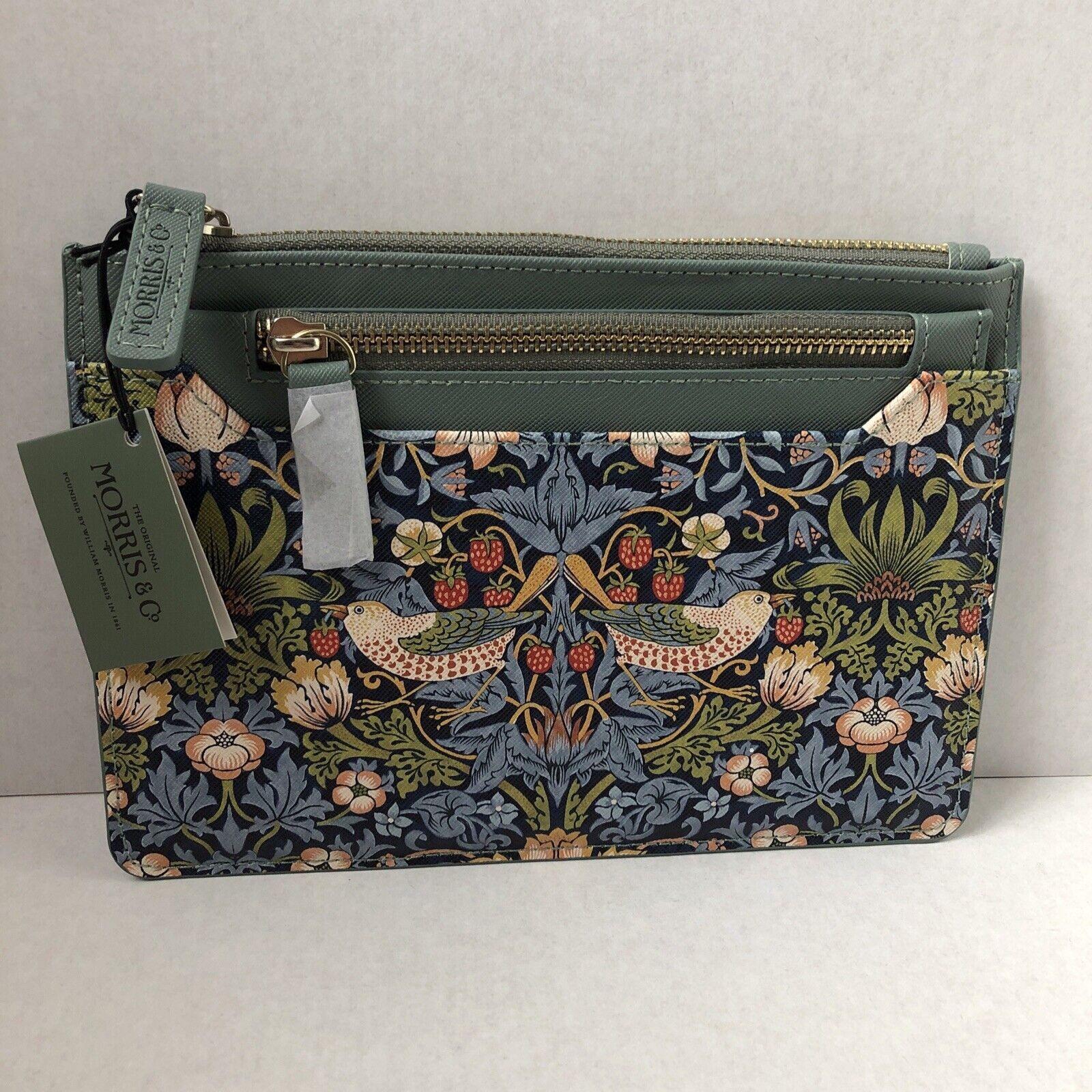 Morris & Co. Bag Travel & Organiser Purse Wallet -New - Strawberry Thief