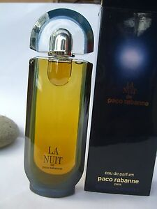 LA-NUIT-PACO-RABANNE-EAU-DE-PARFUM-100-ml-splash-ORIGINAL-RARE-VINTAGE