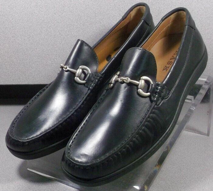 301625 TMS50 Chaussures Hommes Taille 9 m Noir Cuir à Enfiler H.S. Trask