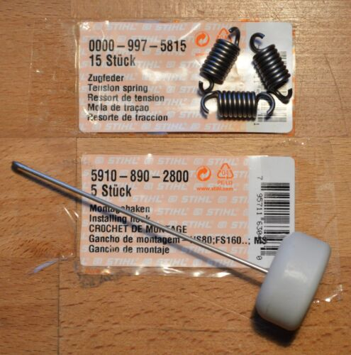 Genuine Stihl Clutch Springs /& Hook MS341 MS361 MS360 MS440 MS460 5815 Tracked
