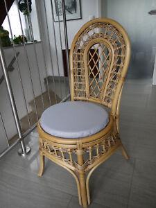 Stuhlkissen-rund-40-cm-x-4-cm-Sitzkissen-grau-Kunstleder