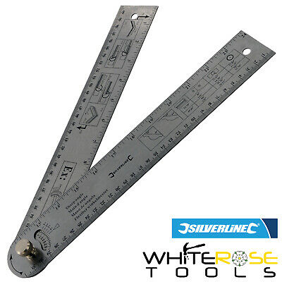 Silverline 783421 Easy Angle Protractor Rule 600mm