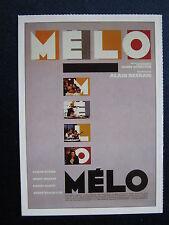 Filmplakatkarte cinema   Melo   Sabine Azema  , Fanny Ardant