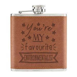 You-039-Re-Mon-Prefere-Environmentalist-Stars-170ml-Cuir-PU-Hip-Flasque-Fauve-Best