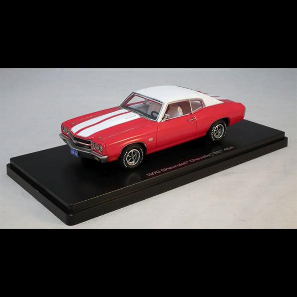 Chevy Chevelle SS 1970  rouge, 1 43  Model voiture. Resin Autoworld  grand choix et livraison rapide
