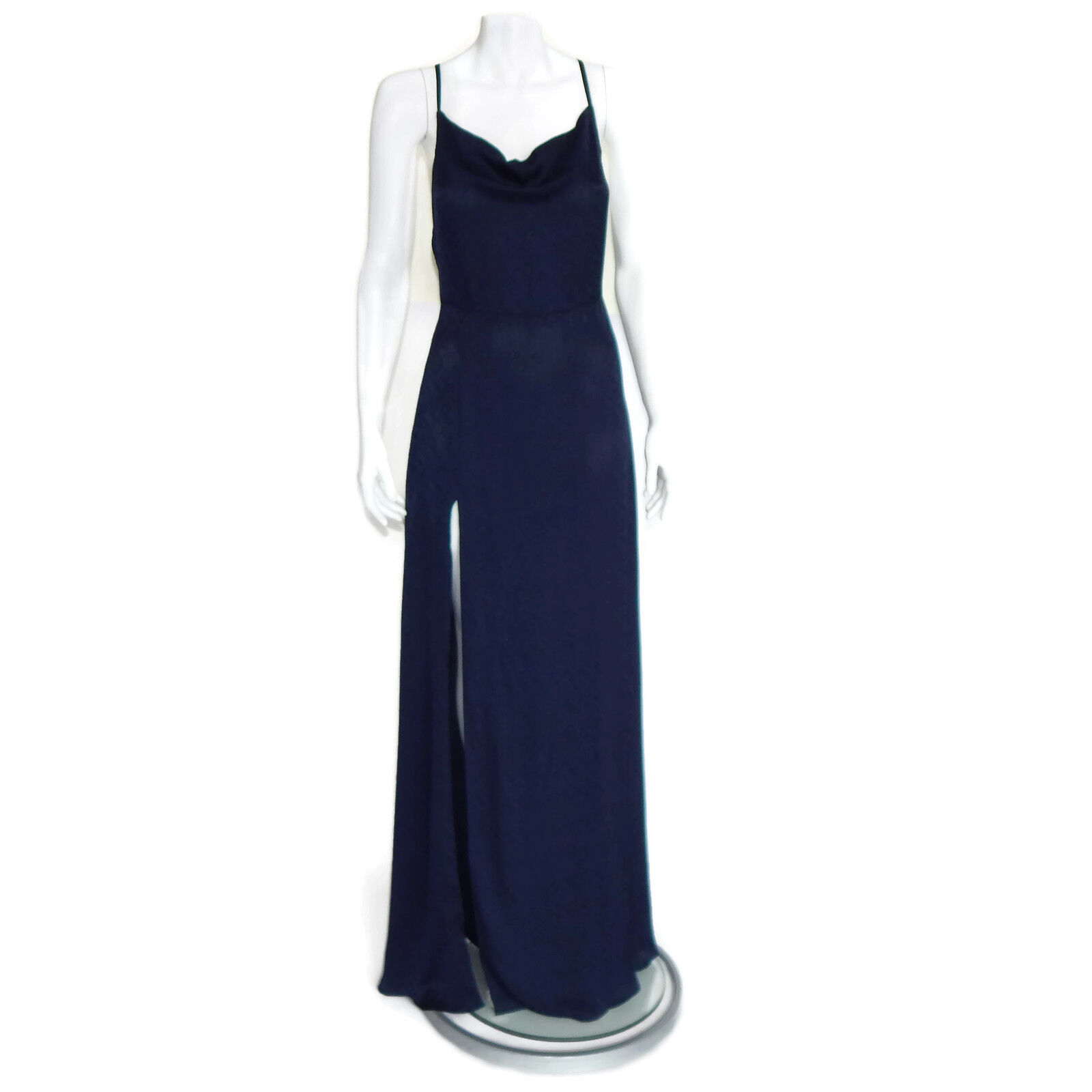 REFORMATION New Terraza Dark bluee Maxi Dress High High High Side Slit  248 Straps size 8 9edf3b