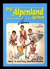 Alpenland Quintett Autogrammkarte Original Signiert ## BC 67729
