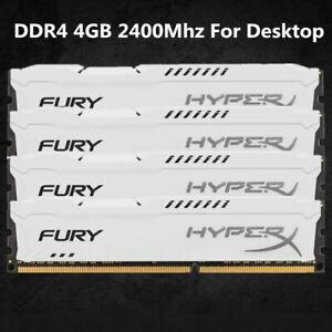 Pour-Kingston-HyperX-4-Go-8-Go-16-Go-DDR4-2400-MHz-PC4-19200-RAM-de-bureau-blanc