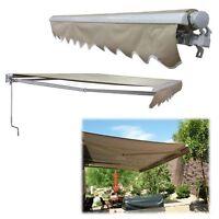Big Retractable Patio Awning Canopy Outdoor Porch Sun Shade Shelter Garden -tent