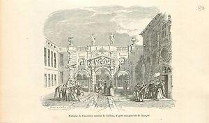 Portique-Maison-de-Rubens-a-Anvers-Antwerpen-GRAVURE-ANTIQUE-OLD-PRINT-1880